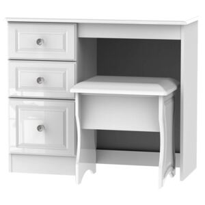 Stonehaven Dressing Table and Stool Set - White