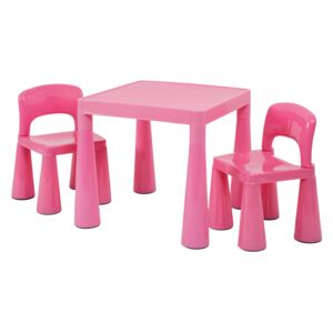 Classic Pink Table and 2 Chairs
