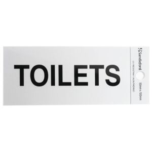 Self Adhesive Toilets Sign - 100 x 50mm