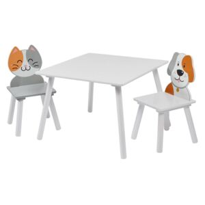 Cat and Dog Table and 2 Chairs