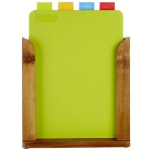 Wood Stand Chopping Boards - Set of 4