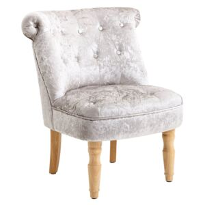 Emily Occasional Chair - Grey Crushed Velvet