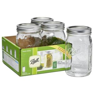 Ball Mason Jars - Pack of 4 - 945ml - Wide Mouth
