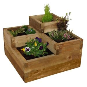 Forest Caledonian Tiered Wooden Raised Bed