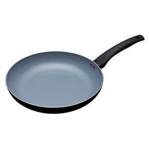 MasterClass Eco Induction Frying Pan with Healthier Ceramic Chemical Free Non Stick, Aluminium , Iron Black and Blue