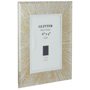 Glitter Picture Frame 6 x 4 - Gold