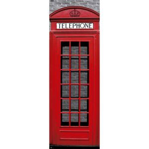 Poster London - Red Telephone Box, (53 x 158 cm)