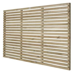 6ft x 4ft (1.8m x 1.2m) Pressure Treated Contemporary Slatted Fence Panel - Pack of 3