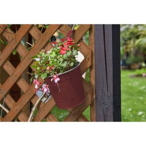 6 inch Fence and Balcony Hanging Pot - Crimson