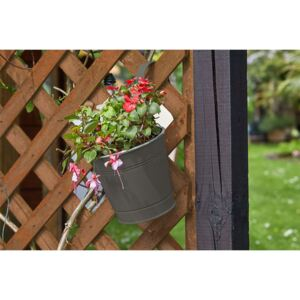 6 inch Fence and Balcony Hanging Pot - Grey