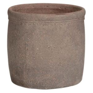 Old Stone Ribbed Cylinder 31cm