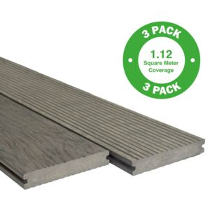 Heritage Board Composite Decking - 3 Pack - Drift - 1.12 m2