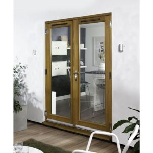 Canberra Laminated Oak Pre-Finished French Doorset - 1500mm Wide