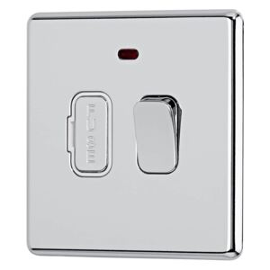 Arlec Fusion 13A Polished Chrome Switched fused connection unit