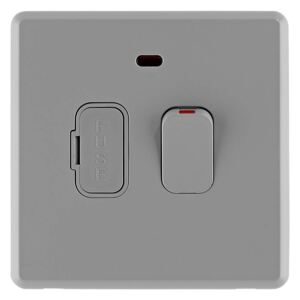 Arlec Rocker 13A Stone Grey Switched fused connection unit
