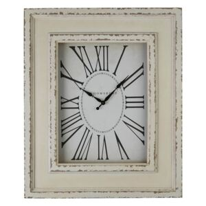 Square Wall Clock - Distressed White