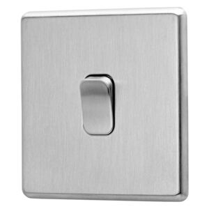 Arlec Fusion 10A 1Gang 2Way Stainless Steel Fusion Single intermediate switch