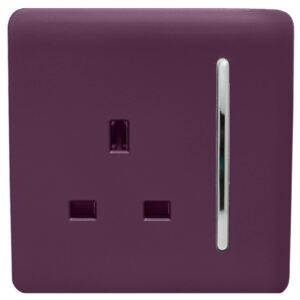 Trendi Switch 1 Gang 13Amp Switched Socket in Plum