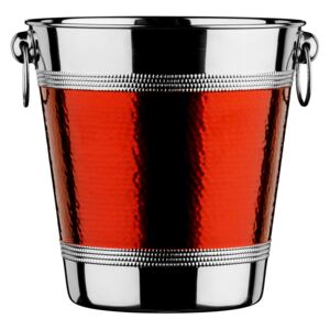 Champagne Wine Bucket - Hammered Red Band