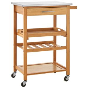 Bamboo Kitchen Trolley with 1 Drawer