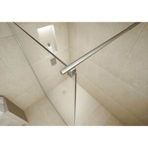 Wet Room Kit with 900mm Straight Glass Panel & 1400mm Tray