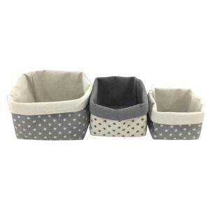 Storage Basket with Stars - Pack of 3
