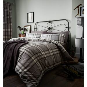 Catherine Lansfield Kelso Easy Care King Duvet Set - Charcoal