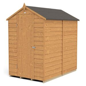 6x4ft Forest Overlap Dip Treated Apex Shed - No Window