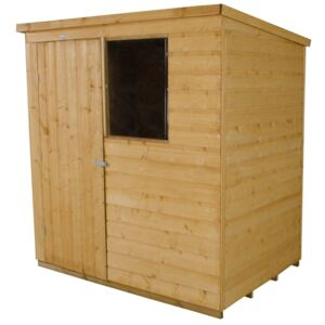 6x4ft Forest Golden Brown Shiplap Pent Wooden Shed