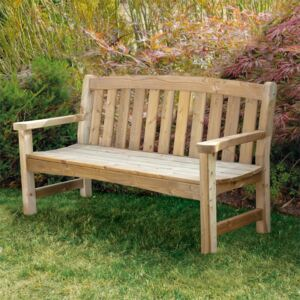 Anchor Fast Oxdale Wooden 3 Seater Bench FSC