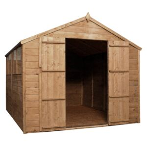Mercia 12x8ft Pressure Treated Shiplap Apex Wooden Shed