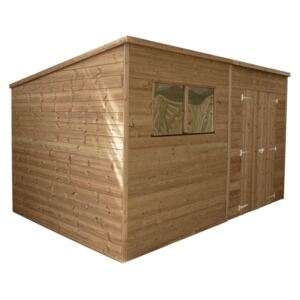 Mercia 12x6ft Pressure Treated Pent Wooden Shed