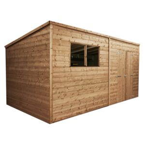 Mercia 14 x 6ft Pressure Treated Pent Wooden Shed