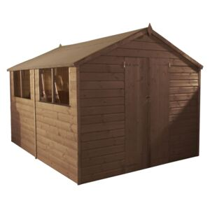 Mercia (Installation Included) 12x8ft Pressure Treat Shiplap Apex Shed