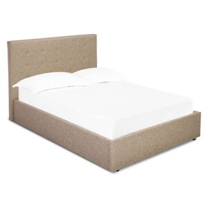 Lucca Plus Linen Fabric Ottoman Bed