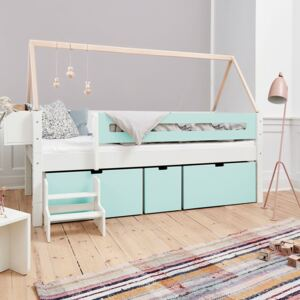 Manis White 3 Deep Drawers Bed & Safety Rail
