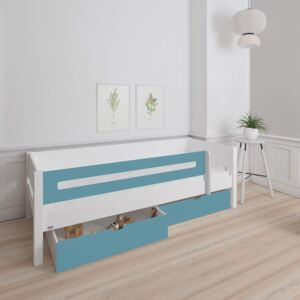 Manis White 2 Drawers Bed & Safety Rail