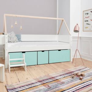Manis White 3 Deep Drawers Bed