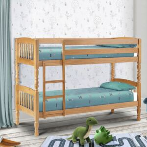 Lincoln Antique Pine Wooden Bunk Bed