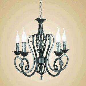 Industrial Black Lustres Wrought Iron Chandelier