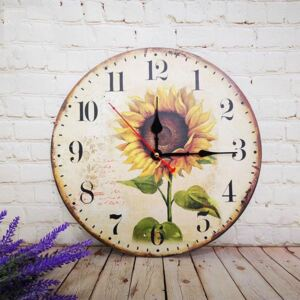 Vintage Style Round Printed Wall Clock
