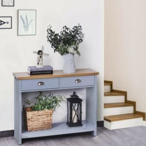 Retro Style 2 Drawer Console Table