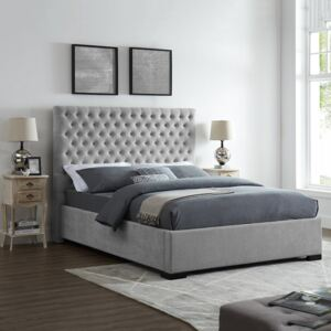 Chenille Grey Upholstered Bed