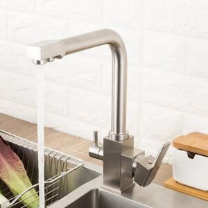 Classic Brass Deck Mounted Kitchen Faucet