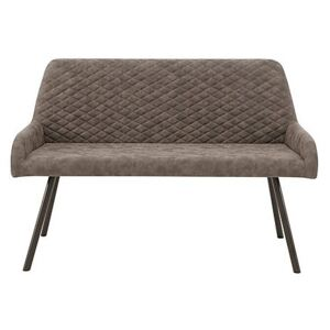 Rocket High Back Faux Leather Dining Bench