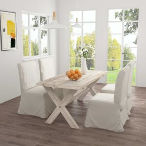 Dining Table 160x80x75 cm Solid Teak Wood