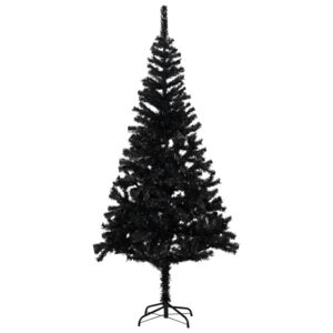 Artificial Christmas Tree with Stand Black 240 cm PVC