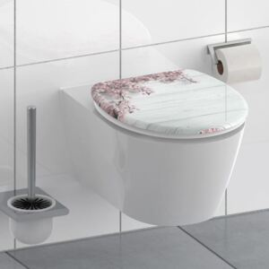 SCHÜTTE Toilet Seat with Soft-Close FLOWERS & WOOD