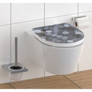 SCHÜTTE High Gloss Toilet Seat with Soft-Close Quick Release ROUND DIPS