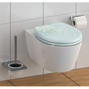 SCHÜTTE Toilet Seat with Soft-Close Quick Release FLOWER IN THE WIND